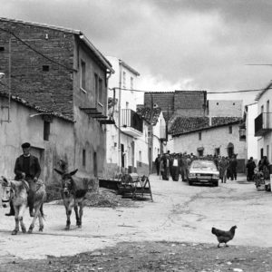 Estramadure region. Village of Deleitosa.  This Spanish village was photographed by W. Eugene SMITH in 1950. After the publication of his story in Life magazine, the adverse American public opinion manifested against Franco. Thirty years later, in 1982, the village still remembers the work of W. Eugene SMITH.